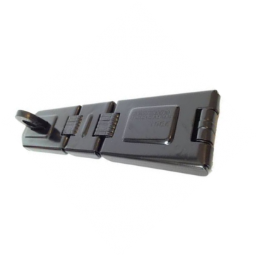 FEDERAL HASP FD1085 BLACK DOUBLE HINGE 200mm x 45mm HORIZONTAL STAPLE