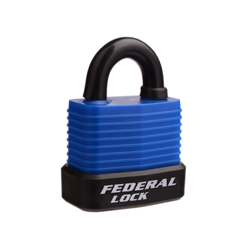 FEDERAL WEATHERPROOF PADLOCK 802WN 45mm ASSORTED COLOURS