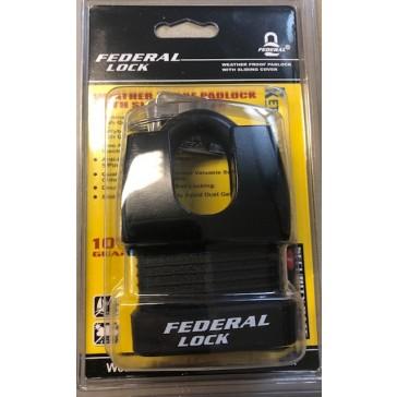 FEDERAL WEATHERPROOF CLOSED SHACKLE PADLOCK 803WNP 55mm