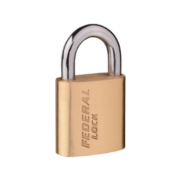 FEDERAL SOLID BRASS HS HEAVY DUTY PADLOCKS, SIZES 40mm - 70mm