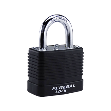 FEDERAL LAMINATED PADLOCK SEL812 45mm ASSORTED COLOURS