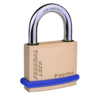 FEDERAL SOLID BRASS KEYED ALIKE SF PADLOCKS, SIZES 30mm - 60mm