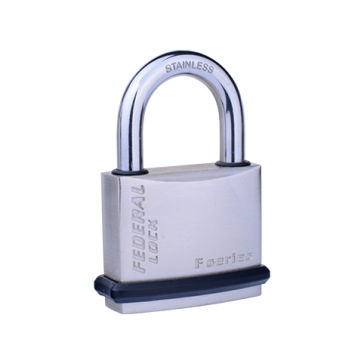 FEDERAL SF NICKEL PLATED PADLOCKS / STAINLESS STEEL SHACKLE