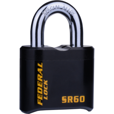FEDERAL EXTRA HEAVY RESETTABLE COMBINATION PADLOCKS, SR60, SR62 & SR60P