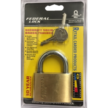 FEDERAL SXD SOLID BRASS SECURITY PADLOCKS