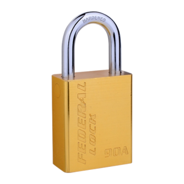 FEDERAL ALUMINIUM PADLOCK FP4-92A 38mm, LONG SHACKLE 50mm