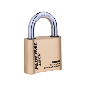 FEDERAL RE-SETTABLE COMBINATION BRASS PADLOCKS, SRB50R & SRB52R