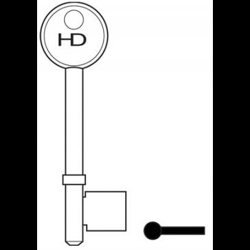 HD L372A UNION 3 / 5 LEVER ALLOY KEY BLANK