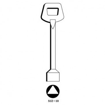 GAS METER KEY (TRIANGULAR) - LONG