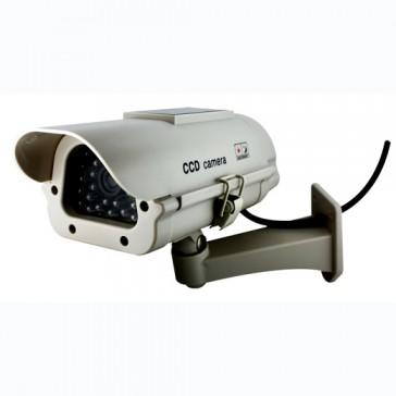 DUMMY CCTV CAMERA PROFESSIONAL (OUTDOOR) SOLAR POWERED LED - LARGE