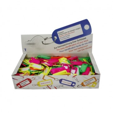 KEY TAGS FLUORESCENT - ASSORTED COLOURS (200)