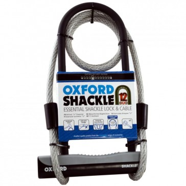 OXFORD SHACKLE 12 DUO D LOCK & CABLE LK332