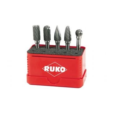 RUKO 5 PIECE ROTARY BURR SET
