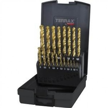 RUKO TERRAX 19 HSS TIN COATED TWIST BITS