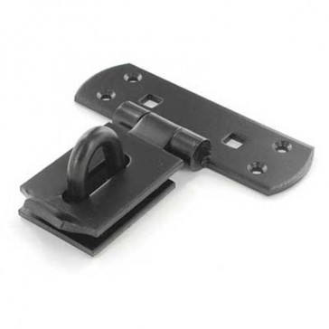 """SECURIT S1422 6"""" VERTICAL HASP BLACK CARDED"""