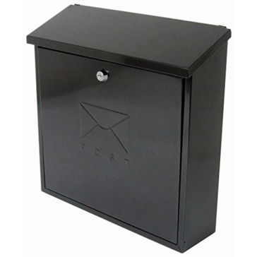 STERLING CONTEMPORARY POST BOX BLACK