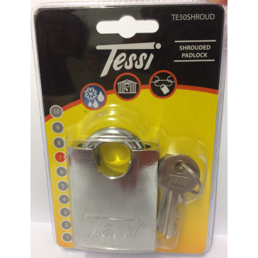 TESSI SHROUDED SHACKLE PADLOCK