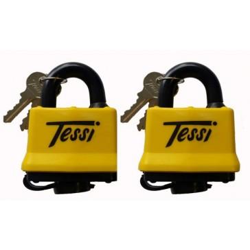 TESSI TELM50T TWIN PACK WEATHER RESISTANT PADLOCKS 50MM