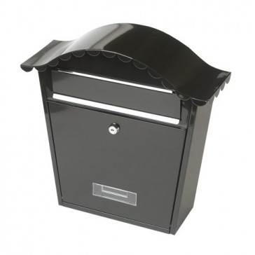 TESSI TY0091 COTTAGE STYLE POST BOX BLACK