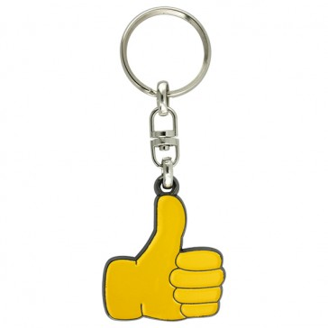 THUMBS UP ENAMEL KEY RINGS - ASSORTED COLOURS