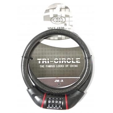 TRI CIRCLE JM-A 15MM X 900MM COMBI CABLE LOCK