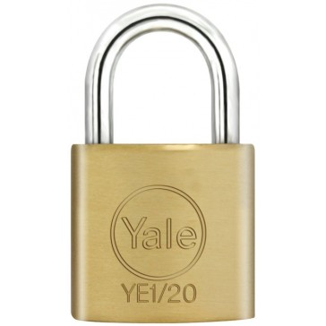 YALE ESSENTIAL 20MM PADLOCK BRASS YE1/20/111/1