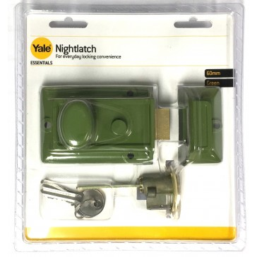 YALE ESSENTIAL NIGHTLATCH GREEN YES-NL-GR