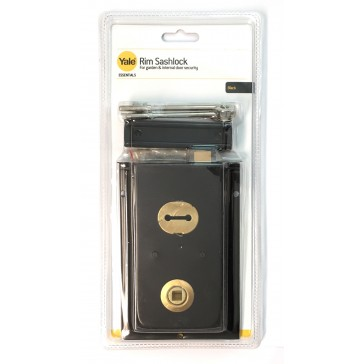 "YALE ESSENTIAL RIM SASHLOCK 6"" X 4"" BLACK YES-RS-BL"