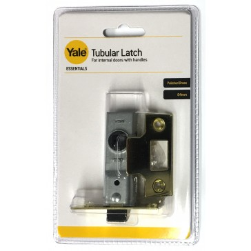 "YALE ESSENTIAL TUBULAR LATCH 2.5"" BRASS YES-TL-PB-64"