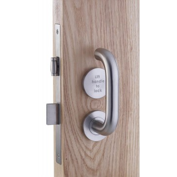 ZOO ZDL7260LLSS / ZCS030LLSS (LIFT TO LOCK) BATHROOM LOCK COMPLETE