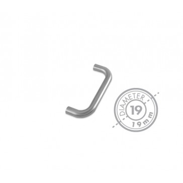 ZOO ZCS2D-BS RANGE 19MM ROUND BAR PULL HANDLE SS