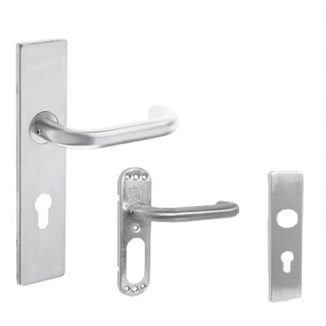 ZOO ZCSIP19SS LONG DOOR HANDLE BODY / CHOICE OF PLATES TO SUIT