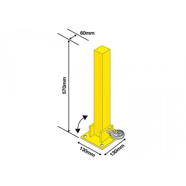 Parking Post Folding Bolt Down Supplies For Locksmiths