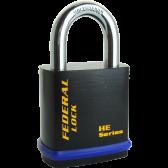 FEDERAL 406HE PADLOCK 46MM - PADLOCK FOR EURO CYLINDER / 6.35MM SHACKLE