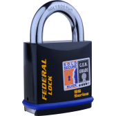 FEDERAL FD730 PADLOCK 60MM - SOLD SECURE SILVER - CEN4