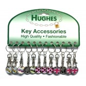 TROLLEY COIN KEY RING - NEW TYPE - ASSORTED DESIGNS