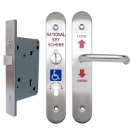 MORGAN ACL500 DISABLED TOILET LOCK & UNIVERSAL FURN SS