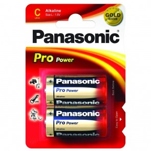 PANASONIC C BATTERIES (CARD OF 2)