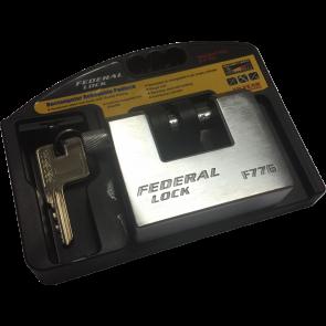 FEDERAL F77G 80mm SOLID STEEL ANVIL PADLOCK