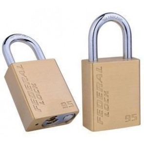 FEDERAL SOLID BRASS HEAVY DUTY PADLOCKS, 3 SIZES, FD95, FD250 & FD350