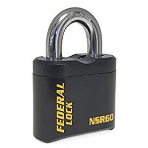 FEDERAL NSR EXTRA HEAVY FIXED CODE COMBINATION PADLOCKS