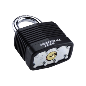 FEDERAL LAMINATED PADLOCK SEL803 55mm ASSORTED COLOURS