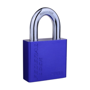 FEDERAL ALUMINIUM  PADLOCK FP4-202A 50mm, LONG SHACKLE 50mm