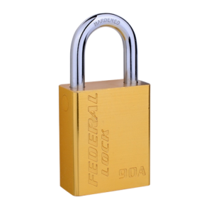 FEDERAL ALUMINIUM PADLOCK FP4-93A 38mm, LONG SHACKLE 76mm