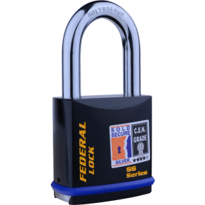 FEDERAL FD732 50MM LS PADLOCK 60MM - SOLD SECURE SILVER - CEN4