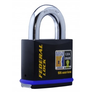 FEDERAL FD740 PADLOCK 70MM - SOLD SECURE GOLD - CEN5