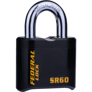 FEDERAL SR60 PADLOCK 62MM - EXTRA HEAVY COMBI PAD