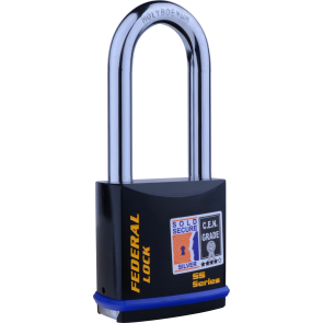 FEDERAL FD733 76MM LS PADLOCK 60MM - SOLD SECURE SILVER - CEN4
