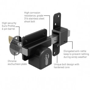 GATEMATE EURO PROFILE LONG THROW GATE LOCK
