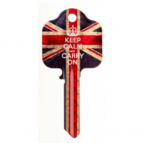 HD UL2 KEEP CALM KEY BLANK CLIP STRIP